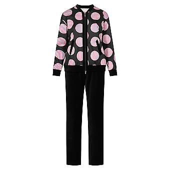 Féraud 3201073-10996 Women's Couture Black Print Spotted Loungewear Set
