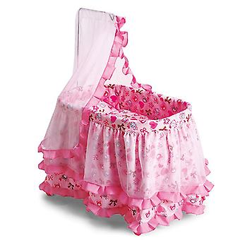 Doll bed, doll cradle Princess 9376, with sky and ruffle 61.5 x 43 x 85cm