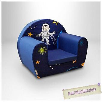 Spazio Ragazzo Blu Bambini Bambini Comfy Schiuma Sedia Toddlers Poltrona Sedia Sedile