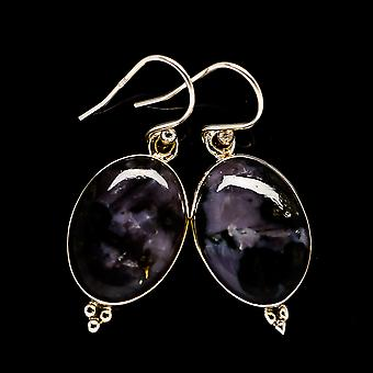 "Gabbro Earrings 1 1/2"" (925 Sterling Silver)  - Handmade Boho Vintage Jewelry EARR396777"