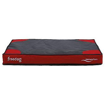 Freedog Red Memory Foam Flat Bed (Dogs , Bedding , Matresses and Cushions)