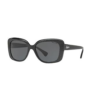 Ralph Lauren RA5241 568187 Shiny Black Glitter/Grey Sunglasses