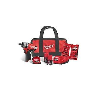 Milwaukee M12SET1F-202B 12v ruuvimeisseli Kit 2 x 2ah paristot