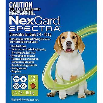 Nexgard أطياف متوسطة 7.5 - 15 كجم (16 - 33 رطل) - 12 حزمة