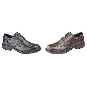 IMAC Mens Leather Water Resistant Brogue Gibson Shoes