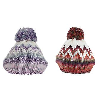 Hawkins Collection Womens/Ladies Knitted Bobble Tam Hat