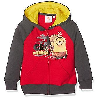 Despicable me minions boys sweatjacket hoodie polar fleece red