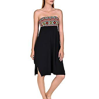 Lisca 49393-02 Women's Haiti Black Aztec Kaftan Beach Dress