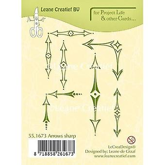 LeCrea Project Life & Cards Clear Stamp - Arrows Sharp