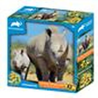 Rhinoceros Animal Planet Kids Prime 3D palapelit 63 kpl