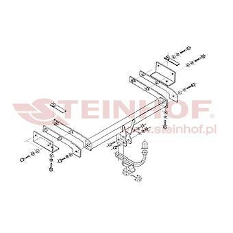 Steinhof Towbar (fixiert 2 Schrauben) für Fiat STILO Multi Wagon 2003-2008