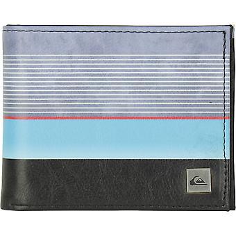 Quiksilver mens friskhet Tri fold plånbok-Hibiscus blå