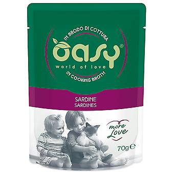 Oasy Pouch with Sardine (Cats , Cat Food , Wet Food)