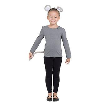 Mouse Set Grey (Ears + Tail)