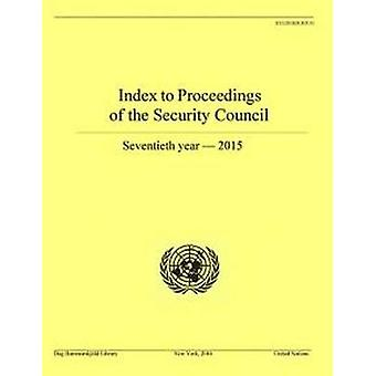 Index to proceedings of the Security Council - seventieth year - 2015
