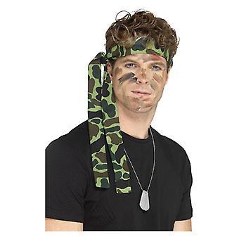 Hadsereg fejpánt, Camouflage, 150cm x 4cm jelmezes tartozék