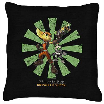 Ratchet And Clank Retro Japanese Cushion