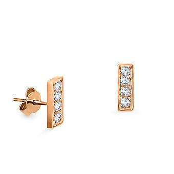 Korvakorut Minibaari nasta (pari) 18K kultaa ja timantteja