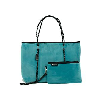 WILLOW BAY AU BOUTIQUE Neopreen Tote Bag - TEAL VELVET