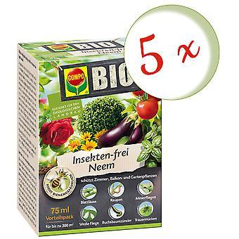 Disperso: 5 x COMPO BIO Neem libre de insectos, 75 ml