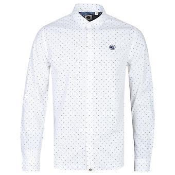 Mooie groene slim fit wit polka dot shirt