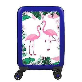 myTrolley Flamingos S, 4 rolls, 55 cm, 32 L, Blue