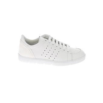 Loewe M526282x112100 Men's White Leather Sneakers