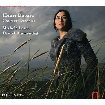 H. Duparc - Henri Duparc: Complete Melodies [CD] USA import