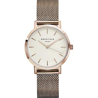 Rosefield tribeca Quartz Analog Women Watch with TWR-T50 Gold Plated Stainless Steel Bracelet