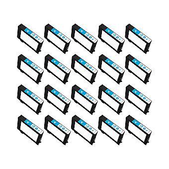 RudyTwos 20 x erstatning for Lexmark 100XL blekk enhet Cyan kompatibel med innvirkning S300, S301, S302, S305, S308, samhandle S601, S602, S605, S606, S608, tolker S402, S405, S408, S409, intuisjon S502, S
