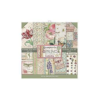 Stamperia Spring Botanic 12x12 Inch Paper Pack