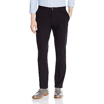 Goodthreads Men's Slim-Fit Falten-free Kleid Chino Hose, schwarz, Größe 28W x 28L