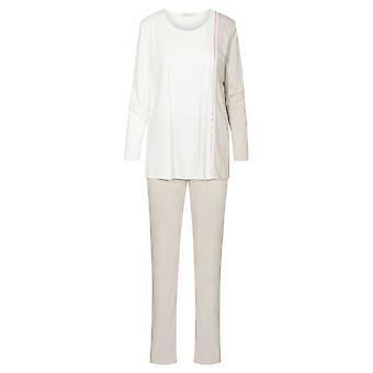 Féraud High Class 3201217-16800 Women's Ivory-Greige Cotton Pyjama Set