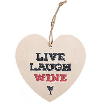 Etwas anderes Leben lachen Wein hängen Herzschild