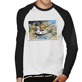 Thunderbirds wish You Were Here Postcard Design Men's Baseball langärmelige T-Shirt