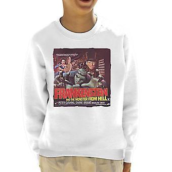 Hammer Horror films Frankenstein monster uit de hel rode Kid ' s Sweatshirt