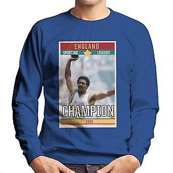 Sport-Legenden Poster England Daley Thompson Champion 1984 Olympics Herren Sweatshirt