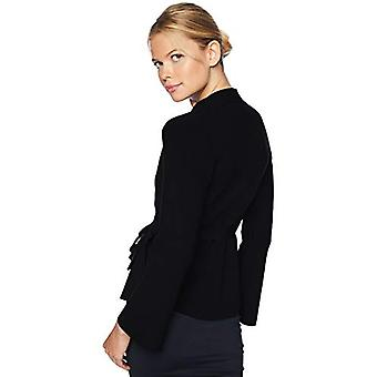 Brand - Lark & Ro Women's Peplum Belted Sweater Jacket with Bell Sleev...