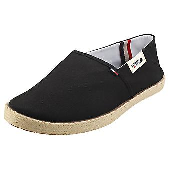 Tommy Jeans Summer Shoe Mens Slip On Shoes in Black