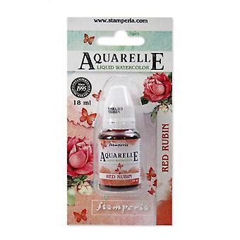 Stamperia Aquarelle Rouge Rubin (18ml) (KAWCL03)