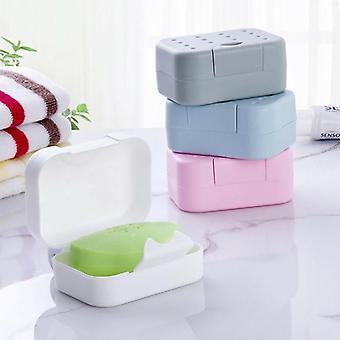 Mýdlová miska protiskluzová krabička - vana Sprchový držák mýdla, turistická nádoba