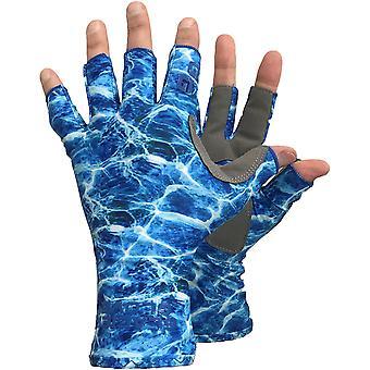 Glacier Glove Islamorada Fingerless Sun Gloves - Blue Water Camo