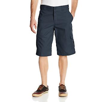 Dickies Men's 13 Inch Relaxed Fit Stretch Twill Cargo Short, Dark Navy, 34