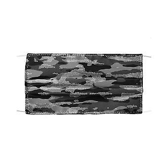 Snow camouflage pattern mosaic style plakat mask