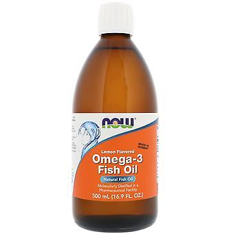 Maintenant aliments, huile de poisson oméga-3, citron aromatisé, 16,9 fl oz (500 ml)