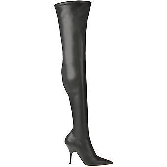 Rochas Ezgl127034 Botas de cuero negro para mujer y apos;s