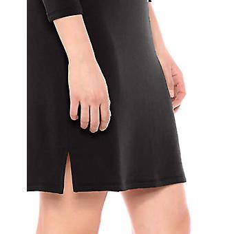 Brand - Daily Ritual Women's Supersoft Terry Bracelet-Sleeve V-Neck Dress, Black, Medium