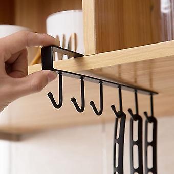 تحمل أقوى خالية من رف تخزين لكمة - شنقا غطاء ورقة رفوف الحديد الشماعات للمطبخ