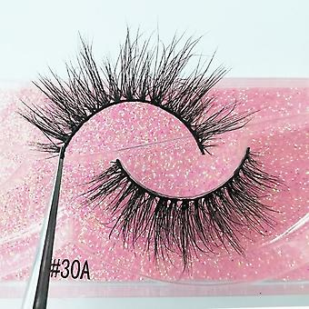 1 Pair 3d Mink Eyelashes -fluffy Dramatic Eyelashes Makeup Wispy Mink Lashes Natural Long False Eyelashes