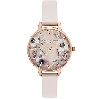 Olivia Burton Watches Ob16sp14 Semi Precious Floral Rose Gold Pearl & Pink Ladies Watch